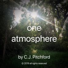 Musical selection 'one atmosphere' by C.J. Pitchford cover image shows trees and sunlight